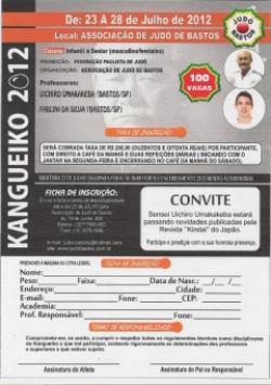 Judô de Bastos agenda Kangueiko 2012 para julho